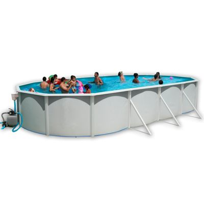 White Coral Oval Steel Pool 9.15m x 4.57m