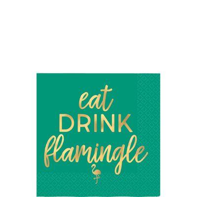 Aloha Summer Flamingle Cocktail Napkins - 25cm Paper