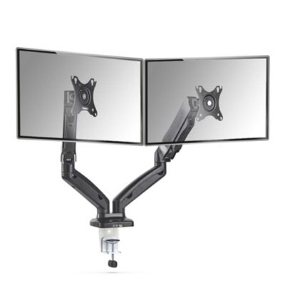 "VonHaus Full Motion Dual Monitor Mount for 13-27"" Screens 
