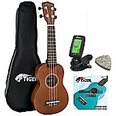 Natural Soprano Ukulele Kit Beginners Pack
