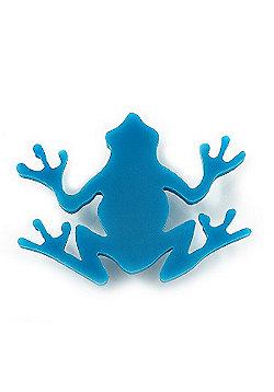 Teal Acrylic Frog Brooch