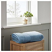 Fox & Ivy Egyptian Cotton Chambray Blue Bath Towel