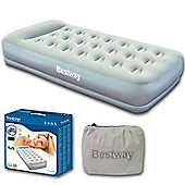 Restaira Single Airbed With Inbuilt Pillow & Pump