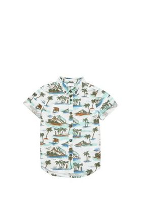 F&F Dinosaur Resort Print Short Sleeve Shirt Multi 12-18 months
