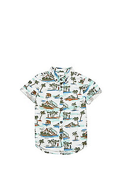 F&F Dinosaur Resort Print Short Sleeve Shirt - Multi