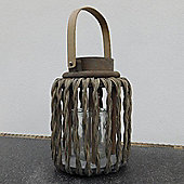 Gorgeous Hampton Lantern with Twisted Wicker Effect Frame