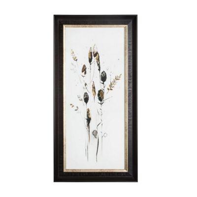 Art for Home Bloom Seed Head Metallic Framed Art