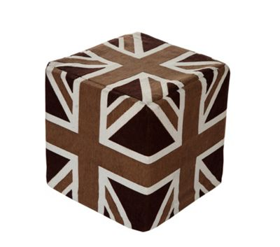 EHC Union Jack Square Cubical Pouffe