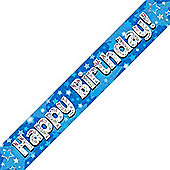 Oaktree Blue Holographic Banner - Happy Birthday