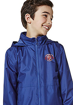 Unisex Embroidered Reversible School Fleece Jacket - Bright royal blue