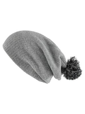 Snowstar Heather Grey and Black Beanie