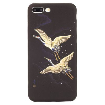 iPhone 7 Plus Oriental Crane Glow in the Dark Slim Protective Case - Multi