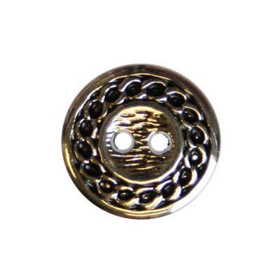 Hemline Round Chain Edge Silver Buttons 15mm 5pk