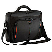 """Targus Classic+ 15-15.6"""" Black/Red Clamshell Laptop Bag"""