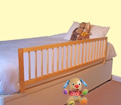 Safetots Extra Wide Wooden Bed Rail Natural