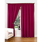 Hamilton McBride Canvas Unlined Pencil Pleat Curtains - Raspberry
