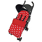 Fleece Footmuff To Fit Buggy Pushchair Red Star