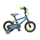 "Concept Spider 14"" Wheel Kids Bike Blue/Green"