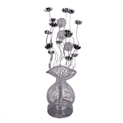 Buy aluminium flower floor lamp silver black from our floor lamps aluminium flower floor lamp silver black aloadofball Gallery