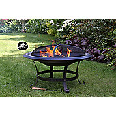 CASSIO extra-large steel fire pit shiny black enamel