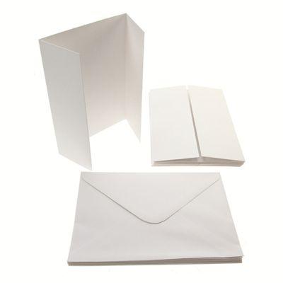 5x7 Gate-Fold Card Blanks 300gsm 10Pk - White