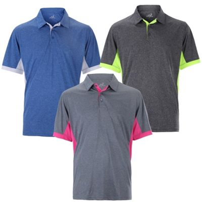 Woodworm Heather Golf Mens Golf Polo Shirts 3 Pack L