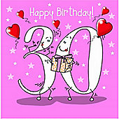 Happy Birthday, 30 Today Female Greetings Card