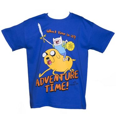 Adventure Time Jake And Finn Kids T-shirt, 164/170cm, Blue (85673adv-164) - Gaming T-Shirts