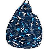 Dinosaur, Jurassic Park Bean Bag - Blue