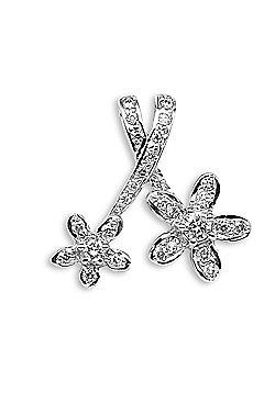 Jewelco London 18 Carat White Gold 33pts Diamond Pendant