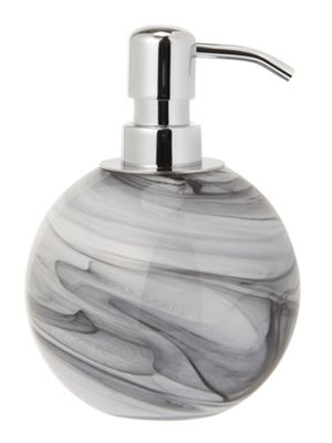 Buy Casa Couture Glass Marble Effect Soap Dispenser In