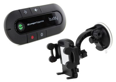 SuperTooth Buddy 2.1 Handsfree Bluetooth Visor Car Kit with In-Car Phone Holder - Black