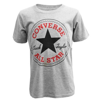 Converse Chuck Logo Kids T-Shirt - Grey - 3-4 Years