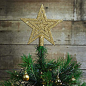 17cm Gold Glitter Star Christmas Tree Topper Decoration