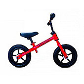 "New 1080 Childs 12"" 3 Spoke Mag Wheels Balance Training Bike Red / Black"