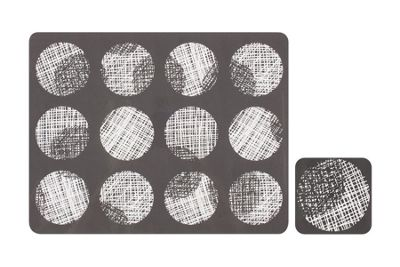 Ladelle Spotto Hardboard Placemats and Coasters