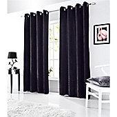 Alan Symonds Velvet Eyelet Curtains - Black