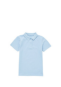 F&F School Girls Polo Shirt with As New Technology - Blue