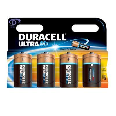 Duracell Ultra Power M3 D Alkaline Battery