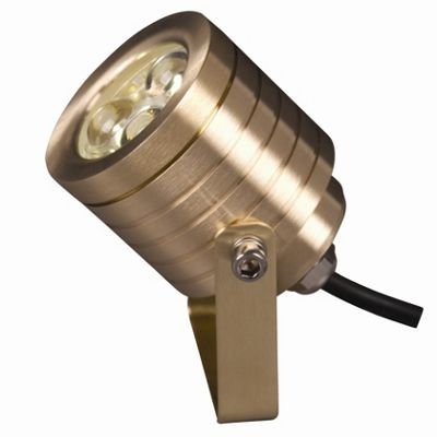 Garden Zone Elite LED Wall / Spot Fitting - Solid Natural Brass
