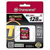 Transcend SDXC Card 128GB Class 10 UHS memory