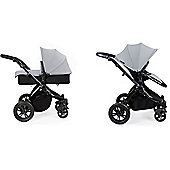 ickle bubba Stomp V2 2 in1 Pram - Silver (Black Chassis)