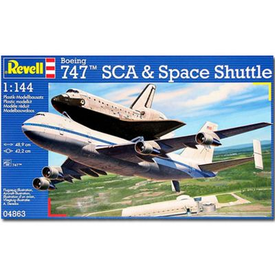 Revell Boeing 747 Sca & Space Shuttle 1:144 Aircraft Model Kit - 04863