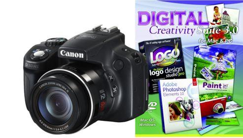 DS Canon Powershot SX50 Camera Black + Photoshop Elements 10