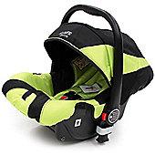 iSafe Pram System Group 0+ Car Seat (Black/Lime)
