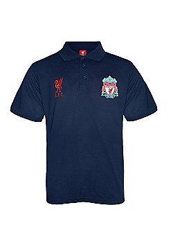 Liverpool FC Boys Polo Shirt - Navy