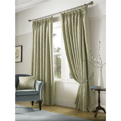 Alan Symonds Cambridge Blue Pencil Pleat Curtains - 66x54 Inches (168x137cm)