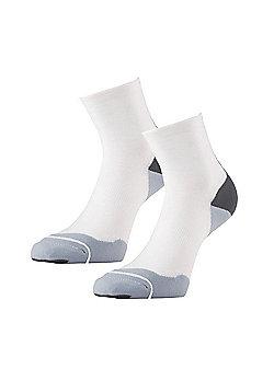 1000 Mile Fusion Womens Padded Running Sock (Pair) White - White