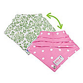 Skibz Doublez Poppers - Green Floral/Polka Dot Pink