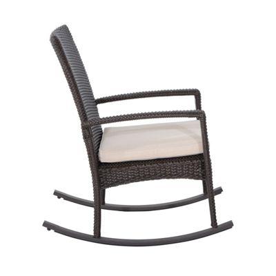 Outsunny Rattan Rocking Chair Garden Patio Bistro Recliner outdoor